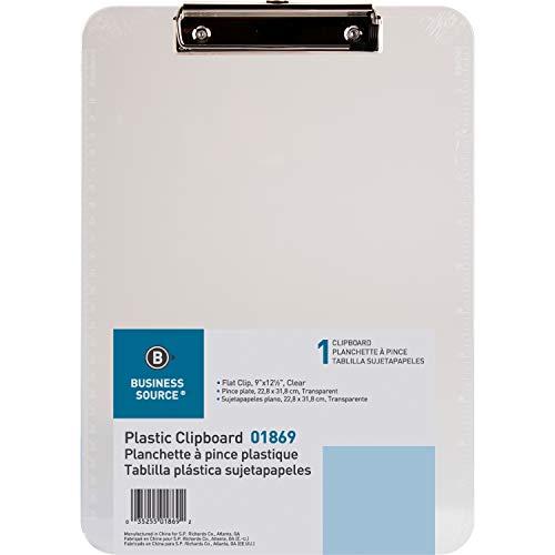 Business Source Transparent Plastic Clipboard, 01869