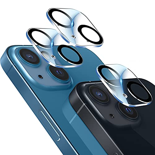 LK 3 Pack Camara Trasera Lente Pantalla Compatible con iPhone 13 Mini/iPhone 13 Protector de Camara, Protector Camara Vidrio Templado,9H Dureza,Sin Burbujas,HD Vidrio Templado, Anti-Arañazos
