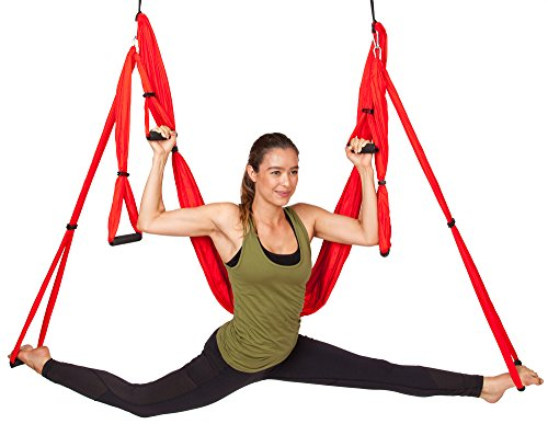 Yoga Swing By WNG Brands Aerial Yoga Back Inversion Sling Anti gravity Yoga Hammock For Strengthening & Back Pain Relief Available In 3 Colors Heavy Duty Fabric For Maximum Safety & Comfort
