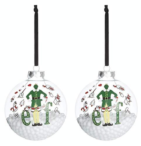 Elf The Movie Will Ferrell, palla di vetro grande 10 cm, decorazione per albero di Natale (2)