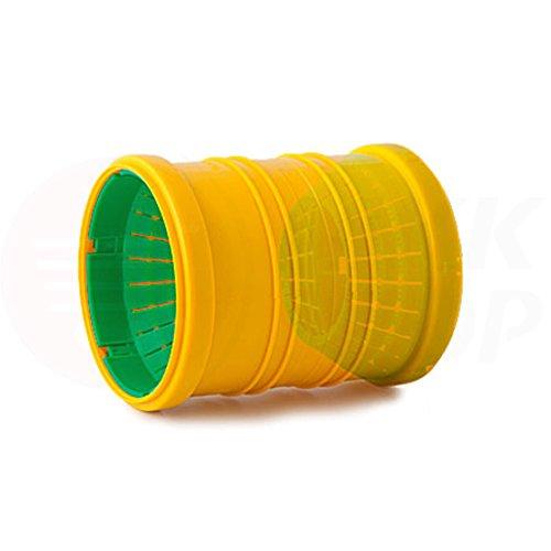 Tube de drainage coudé en T - 50 mm de diamètre - Bouchon ou réducteur de 72 à 100 mm de diamètre - tube de fond de canal haute température - Clapet anti-retour - 45 °, 67 °, 90 °, Verbindungsmuffe, Ø 72 - 100 mm (MKK-10)