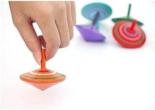 GoodPlay Gyroscope, 3 Pcs/Set Handmade Painted Wood Spinning Tops, Wooden Toys Educational Toys Kindergarten Toys Standard...