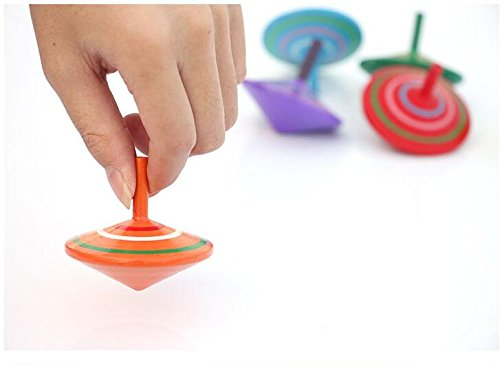 GoodPlay Gyroscope, 3 Pcs/Set Handmade Painted Wood Spinning Tops, Wooden Toys Educational Toys Kindergarten Toys Standard Tops