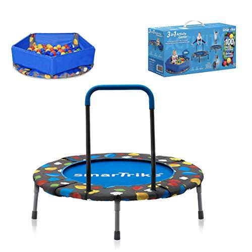 smarTrike Baby-Boys 9200000 - Cama elástica 3 en 1 para niños (91,44 x 91,44 x 71,88 cm), Color Azul