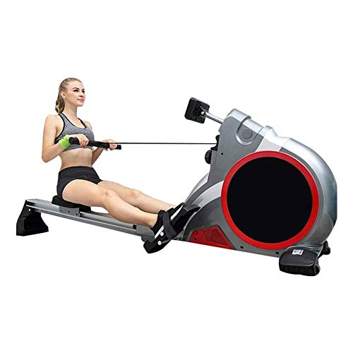 ZOUJIANGTAO Magnetic Rowing Machine 280 LB Weight Capacity - Foldable Rower for Home Use with LCD Monitor, Comfortable Seat Cushion Folding Magnetic Rowing Machine