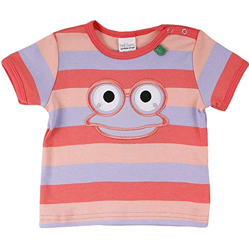 Fred'S World By Green Cotton Hello Fred S/s T Baby T-Shirt, Multicolore (Coral 016164001), 92 Bébé Fille