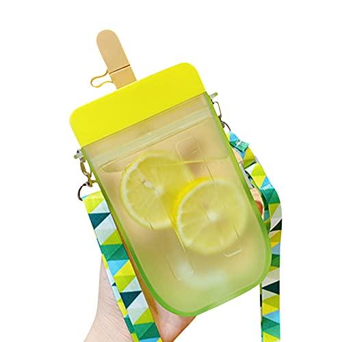 Helado creativo Helado de plástico Botellas de agua potable, Helado Creativo Plástico Popsicle Bebida Botellas de agua, para adultos para niños Viajes deportivos de camping al aire libre