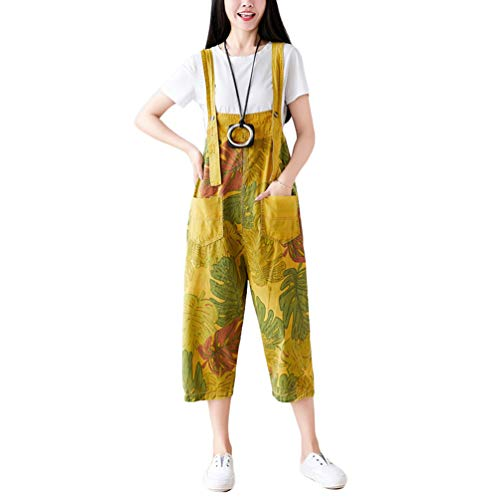 Yuandian Mujer Petos De Pantalon Pierna Ancha Vaquero Casual Baggy Mono Jeans Denim Ancho Mono Pantalon Señora Boyfriend Petos Tejanos Pantalones