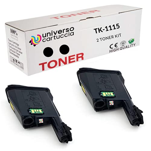 Tóner Kyocera TK-1115 negro. Cartucho original 1T02M50NL1. Compatible con impresoras ECOSYS FS-1041, FS-1220MFP, FS-1320MFP (2 TK1115)