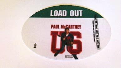 2005 Paul Mccartney Backstage Pass U.s. Tour Beatles Load Out Green