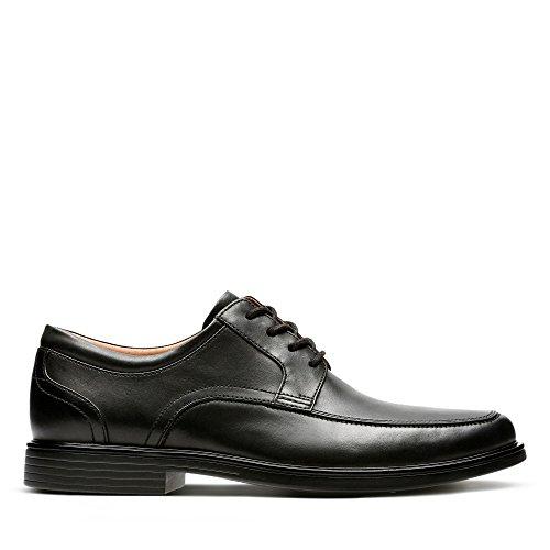 Clarks Un Aldric Park, Zapatos de Cordones Derby para Hombre, Negro (Black Leather), 41.5 EU