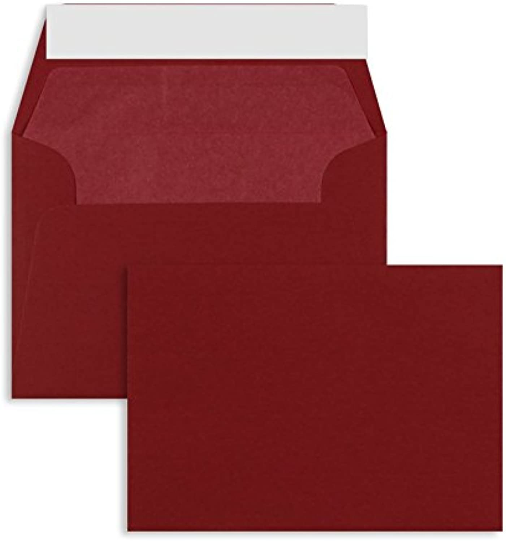 Farbige Briefhüllen Briefhüllen Briefhüllen   Premium   125 x 176 mm (DIN B6) Rot (100 Stück) mit Abziehstreifen   Briefhüllen, KuGrüns, CouGrüns, Umschläge mit 2 Jahren Zufriedenheitsgarantie B01CGKD062 | Sale Outlet  3913a4