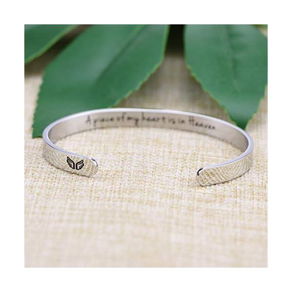 Memorial Gift for Loss of Mom Dad Grandma Grandpa Husband Sister Brother Sympathy Bracelet Bereavement Cuff Remembrance Bangle