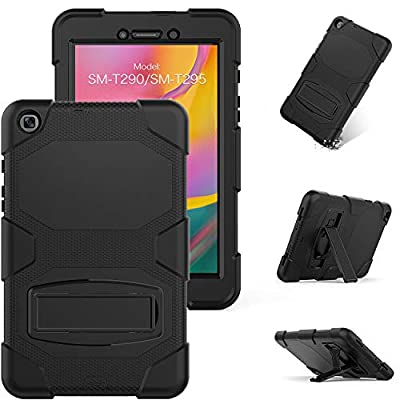 Galaxy Tab A 8.0 2019 Rugged Case with Kickstand,Model SM-T290 /SM-T295,[Built-in-Screen Protector],Full Body Heavy Duty Shockproof Protective Case for Samsung Galaxy Tab A 8.0 Inch (2019)