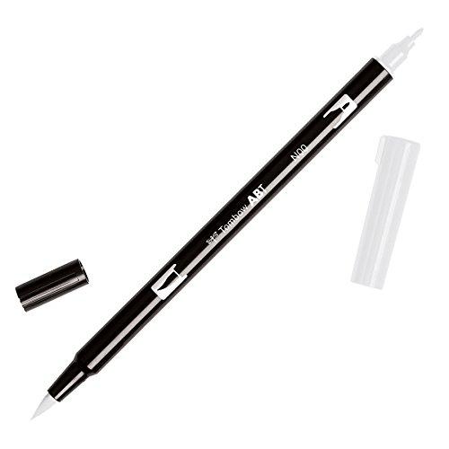 Tombow Dual Brush Pen Art Marker, N00 - Colorless Blender, 1-Pack - 56645-S