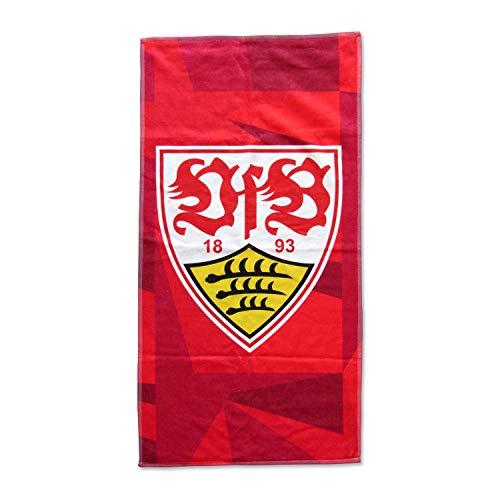 VfB Stuttgart Duschtuch Wappen rot ca. 70 x 140 cm