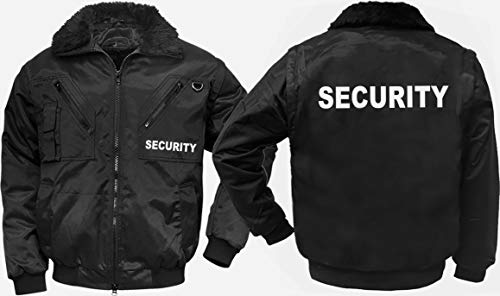 4-in-1-Dienstjacke/Securityjacke'JUBILEE', schwarz, Gr. L, mit'SECURITY'-REFLEX-DRUCK