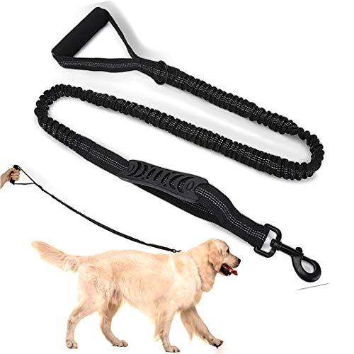 FayTun Hundeleine, reflektierend, groß, elastisch, einziehbar, mit weich gepolstertem Griff, starke stoßdämpfende Leine für mittelgroße und große Hunde