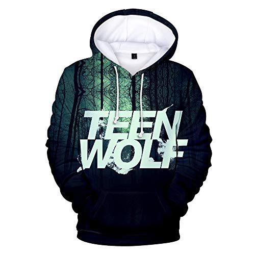 Sweat à capuche unisexe de la série TV Teen Wolf - Jaune - XXXXL