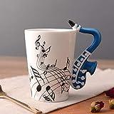 HPPSLT Taza de cerámica de té Divertido único, Taza de cerámica para música Taza Guitarra eléctrica Taza Musical Taza de café creativa-10