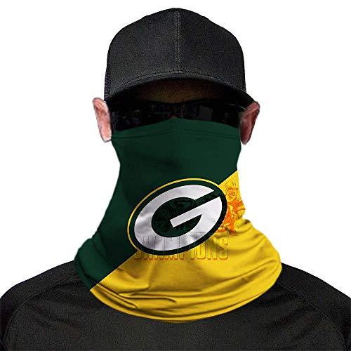 Mens 3D Football Theme Pattern Headband Bandana - Neck Gaiter, Face Mask, Balaclava, Headwrap Green Bay Packers