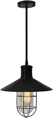 DE_ZHAO Nouveau luminaire Suspendu créatif en Fer Plafond rétro éclairage Magasin de vêteHommests Lampe Suspendue décoration de la Maison luminaire - Noir