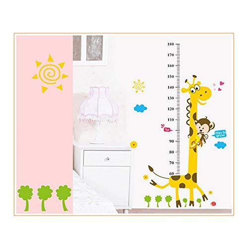 Zhzhqm DIY Autocollant Mural Children Room Decor Mur Stiker Taille Croissance Graphique Enfants DIY Bande Dessinée Autocollants Muraux pour Enfant Salon Décor