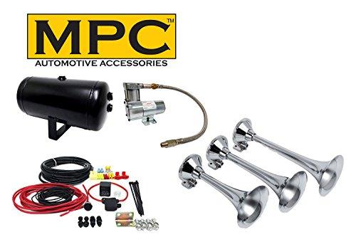 MPC Train Horn Kit Air Horns for Car & Truck 120 Air System