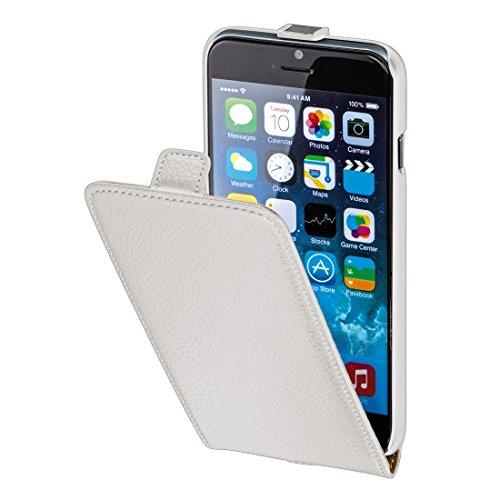 Hama Flip Case für Apple iPhone 6 (4,7 Zoll Tasche, Maßgefertigte Schutzhülle mit Magnetverschluss) weiß