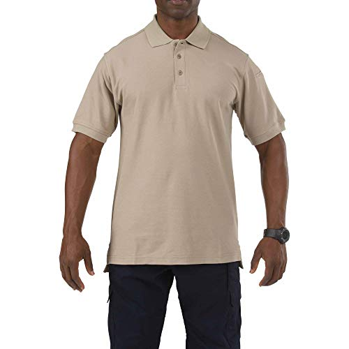 5.11 Tactical Men's Utility Short Sleeve Polo Shirt, Style 41180, Silver Tan, Large