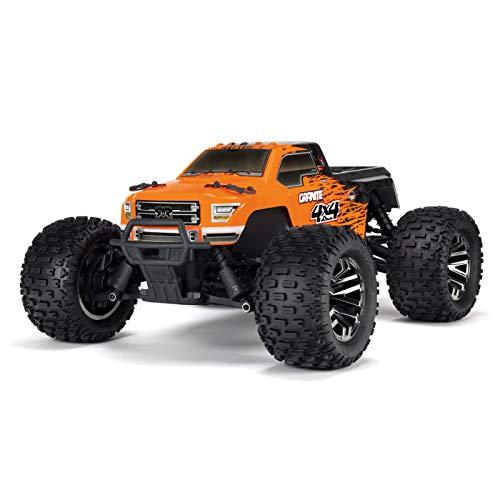 ARRMA 1/10 GRANITE 4X4 3S BLX Brushless 4WD RC Monster Truck RTR with 2.4GHz Spektrum Radio (Battery Not Included), Orange/Black (ARA102720T1)