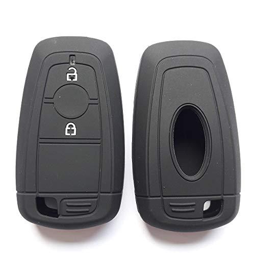 Funda con Mando a Distancia para Llave, Soporte de Silicona para Ford 2018 Ecosport Ranger Raptor, 2 Botones, sin Llave Inteligente, Negro, Blanco