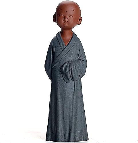 WSJF Abstracto único Estatua Escultura Creativo pequeño Monje Escultura Estatua de la Estatua del hogar gabinete de Vino de cerámica Sala de Estar Buda Estatua Zen decoración decoración