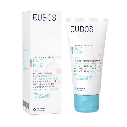 Eubos | HAUT RUHE Creme | 50ml | für trockene, empfindliche Kinder- und Babyhaut, auch Therapie begleitend bei Neurodermitis | Wirksamkeit & Verträglichkeit dermatologisch bestätigt