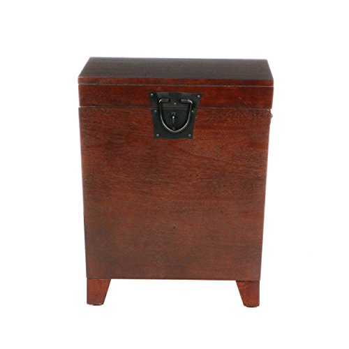 Southern Enterprises Pyramid Storage Trunk End Table