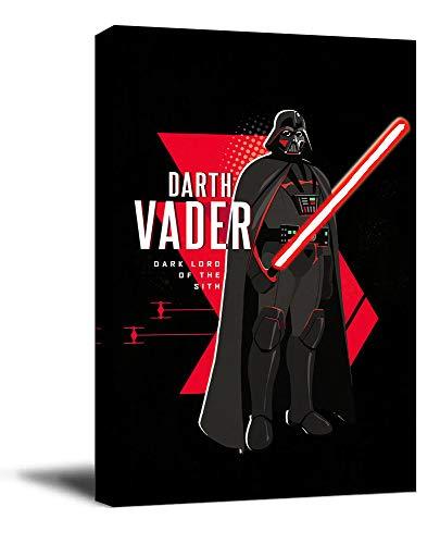 YITUOMO Darth Vader - Lienzo decorativo para pared (30,5 x 45,7 cm), diseño de sable de luz de Star Wars Jedi de David Prowse para dormitorio de niños y niñas, estirado y listo para colgar)