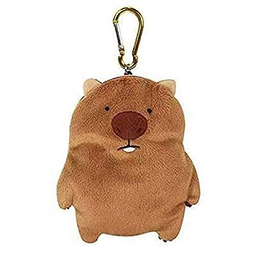 HXHBD Familia Wombat, ornitorrinco, Tasmania, Wombat, Koala, muñeco de Peluche, Tarjetero retráctil, Monedero