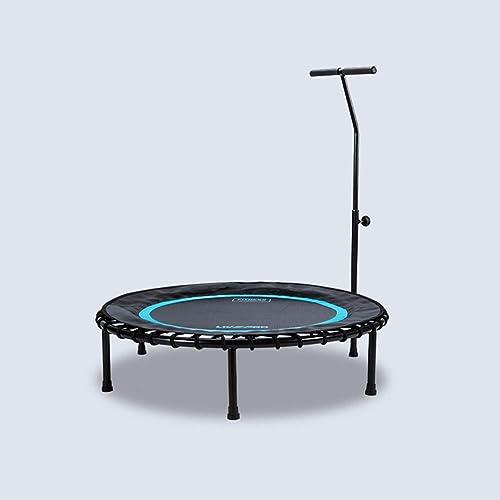 Fitness-Trampolin HUO, Indoor- Und Outdoor-Trampolin Mini-Trampolin Kindertrampolin, Handlauf 6-Fach Verstellbares Trampolin