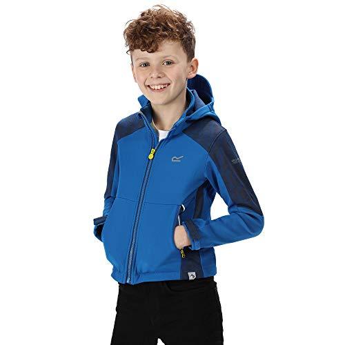 Regatta Astrox II Reflektierende Softshell-Jacke für Kinder 7-8 Jahre Oxford-Blau/Preußisch
