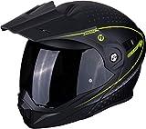 Scorpion Casco de moto ADX-1 HORIZON Matt Black-Neon yellow, Negro/Fluo, S