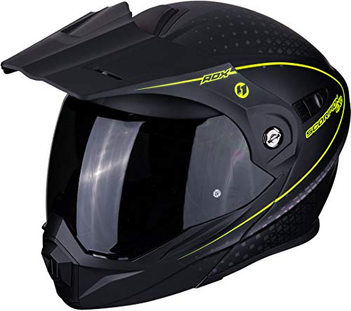 Scorpion Casco de moto ADX-1 HORIZON Matt Black-Neon yellow, Negro/Fluo, L