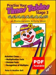 Practise Your Times Tables Stage 3: A Photocopiable Activity Book from Topical Resources