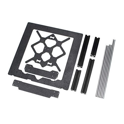 BANANAJOY Clone for Prusa I3 Mk3 3D Printer Parts Aluminum Frame Aluminum Black Profile and Smooth Rods Kit