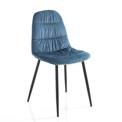 Tomasucci Fluffy Blue Stuhl, 4 Stück