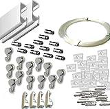 MARCS ARIAS SL Pack Basic RM de 6 Metros Guías de Aluminio (Blanco) con 12 colgadores Nylon para...