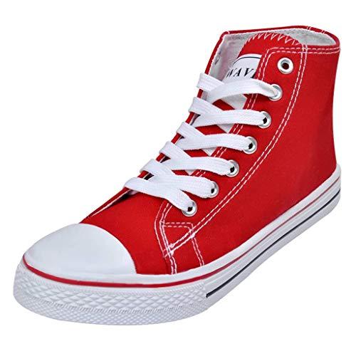 Geniet van winkelen met Klassieke hoge dames sneakers rood (maat 40)