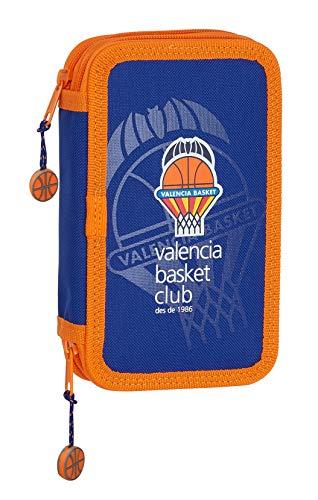 Estuche Escolar con 28 Útiles Incluidos de Valencia Basket, 125x40x195mm