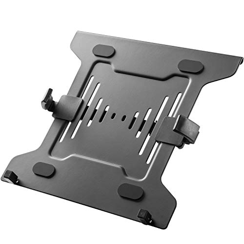 WORLDLIFT Laptop Mount Holder for VESA Compatible Monitor Arms, Universal Adjustable 10 to 15.6 inch Notebook Tray Fits 75 x 75/100 x 100 mm VESA Mount Holes