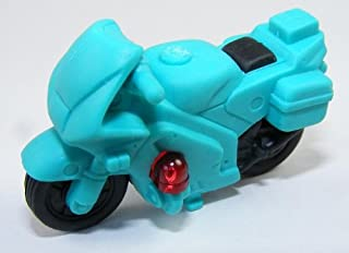 Police Motorcycle Japanese Erasers. 2 Pack. Turquoise