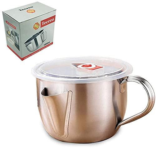 Milchtopf 15cm / 1 Liter Edelstahl Milchkanne 1L Milchkochtopf mit Ausgiesser Wasserbadkocher Wasserkessel im Kartonpaket'